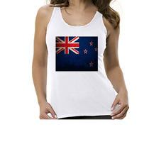 Camiseta Regata Bandeira Nova Zelândia - Feminino