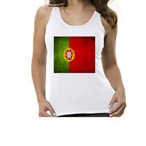 Camiseta Regata Bandeira Portugal - Feminino