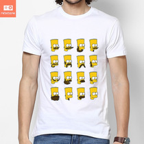 Camisetas Simpsons Bart Barbas Desenhos Seriados Nerd Camisa