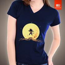 Camisetas Dragon Ball Z Dbg Goku Desenhos Herois Camisa Lua