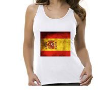 Camiseta Regata Bandeira Espanha - Feminino