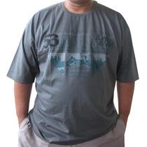 Camiseta Tamanho Grande G2/g3 Fio 30.1 Penteado Plus Size