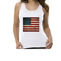 Camiseta Regata Bandeira Estados Unidos- Feminino