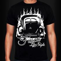 Camiseta Fusca Life Style - Volkswagen - Carro Antigo-custom