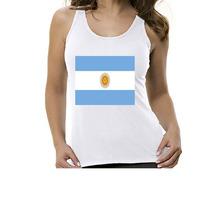 Camseta Regata Bandeira Argentina - Feminino