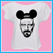 Blusa Feminina Breaking Bad, Walter White Mouse, Disney