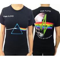 Baby Look Pink Floyd - Dark Side (consulado Do Rock)