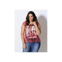 Blusa Feminina Estampada Mullet Plus Size Gg