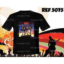Camiseta Bandas Rock Kiss Pink Floyd Acdc Nirvana Metallica