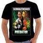 Camiseta Ou Baby Look Predator Arnold Schwarzenegger Predado