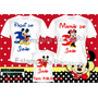 Kit 3camisetas Personalizadas Aniversario Mickey/minei