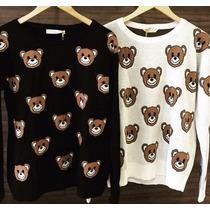 Blusa Tricot Feminino Ursinhos Moda 2015 Roupas Femininas