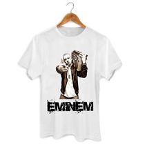 Camiseta Rapper Eminem Masculina Feminina Cantor Rap Banda