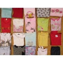 Lote Roupas Importadas Meninas 6/7 Anos Camisetas Moletons