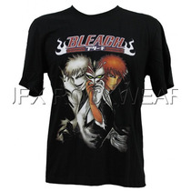 Camisa De Manga Curta Anime Hq Bleach Preta