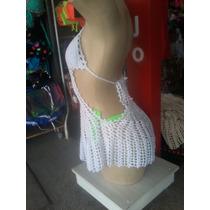 Saida De Praia Blusa Vestido Crochê Branco - Cod0100
