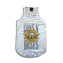 Regata Feminina Personalizada Rock Bandas Guns N Roses