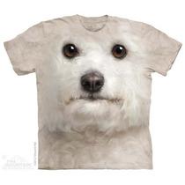 Camisa 3d Bichon Frise Face The Mountain Original