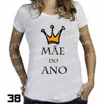 Camiseta De Grávida Gestante Loading Mãe Do Ano Blusa Branca