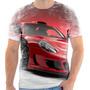Camiseta - Camisa Carro Porshe Carrera Gt Tunado Roda Frente