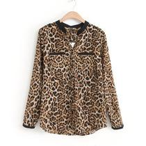 Camisa Feminina Animal Print Oncinha Leopardo.