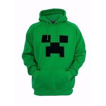 Blusa De Frio Moletom Infantil Desenho Creeper Minecraft