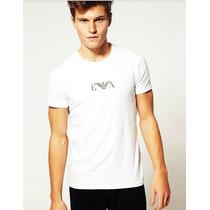 Camiseta Gola Redonda Skinny Emporio Armani Pronta Entrega