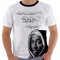 Camiseta Tupac Shakur 2pac Gangsta Modelo 17