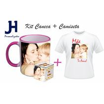 Dia Das Mães Kit Caneca + Camiseta + Embalagem Personalizada