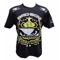 Camiseta Bad Boy Demian Maia Fight Night Preta
