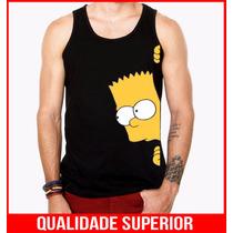 Camiseta Regata Masculina Bart Simpsons Seriados