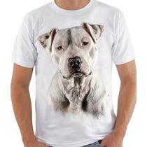 Camiseta Masculina Com Estampa Pit Bull