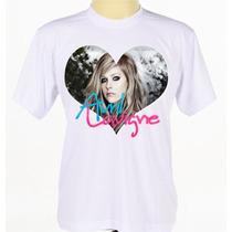 Camiseta Estampada Camisa Avril Lavigne Pop Rock Punk