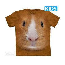 Camisa 3d Guinea Pig Face Kids The Mountain Original