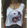 Camisa Yin Yang - Hippie Vintage Boho Cropped
