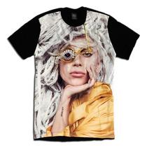 Camiseta Personalizada Swag Face Rosto Lady Gaga