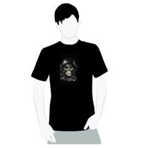 Camisa De Qualidade- Algodão- Caveira Pirata Rock