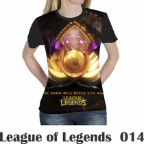Camiseta Blusa Games League Of Legends Feminina Lol 014