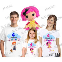 Lebrança De Aniversário Lalaloopsy Boneca Camiseta 3 Un