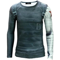 Camisa Marvel / Soldado Invernal / Buck - Capitão América 3d