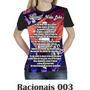 Camiseta Blusa Racionais Mcs Feminina Vida Loka 003