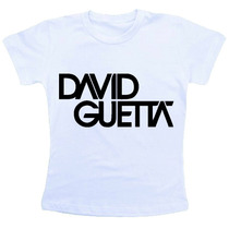Camiseta Baby Look Feminina - David Guetta