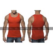 Camiseta Masculina Tank Cavada Regata Gola Camisas Blusas