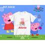 Camiseta Peppa Pig Na Bicicleta Pepa Infantil Personalizada