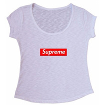 Blusa Tecido Flame Supreme Skate Lady Gag Camiseta Baby Look