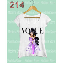 Tshirt Feminina Princesa Vogue Jasmine Desenho Disney Aladin