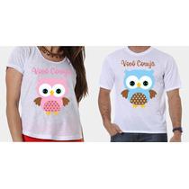 Camisetas Vovó Coruja E Vovô Coruja