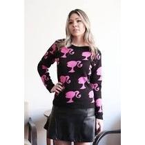 Blusa De Frio Tricot Girls Barbie