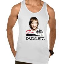 Camiseta Regata Adulto David Guetta Dj Eletronico Trance 4