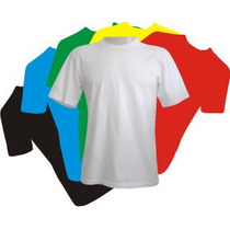 Camisetas Lisas 100% Algodão Fio 30 Penteado Kit C/10 Peças